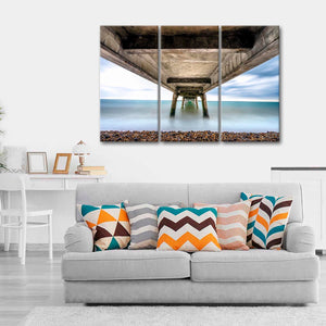 Under the Sea Dock Multi Panel Canvas Wall Art - Beach