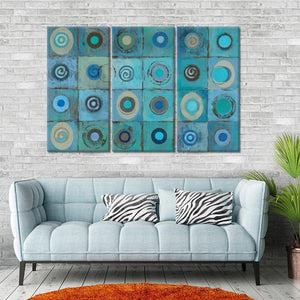 Underwater Mosaic Multi Panel Canvas Wall Art - Abstract