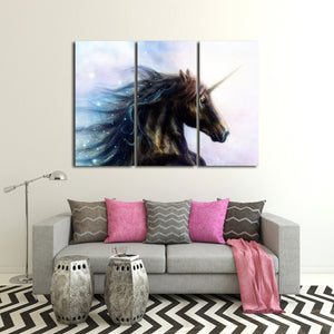 Unicorn Multi Panel Canvas Wall Art - Horse