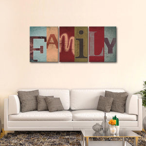 Unique Family Multi Panel Canvas Wall Art - Inspiration