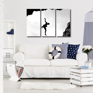 Unique Perspective Multi Panel Canvas Wall Art - Climb