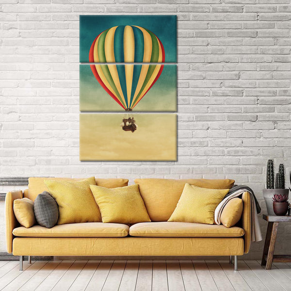Up Up And Away Multi Panel Canvas Wall Art