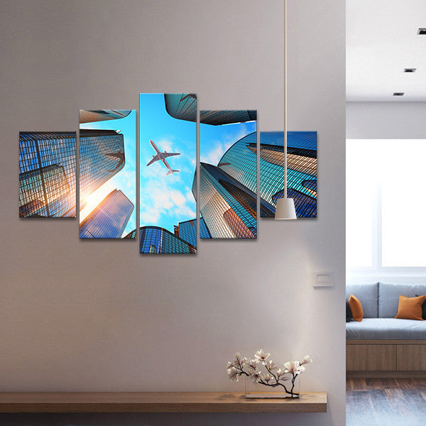 Urban Flight Multi Panel Canvas Wall Art Elephantstock
