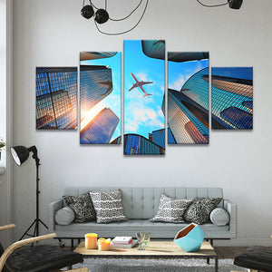 Urban Flight Multi Panel Canvas Wall Art