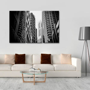 Urban Landscape Multi Panel Canvas Wall Art - Architecture