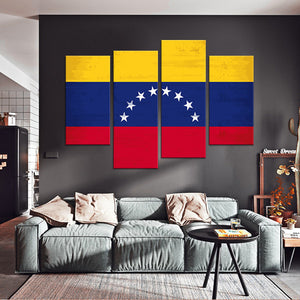 Venezuela Flag Multi Panel Canvas Wall Art