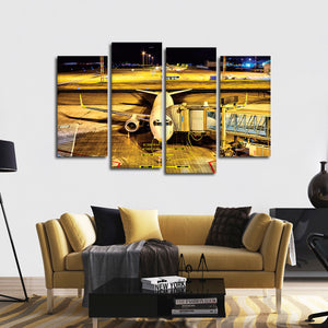 Vacation Time Multi Panel Canvas Wall Art - Airplane