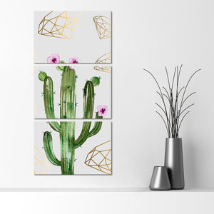 Valuable Cactus Multi Panel Canvas Wall Art - Botanical