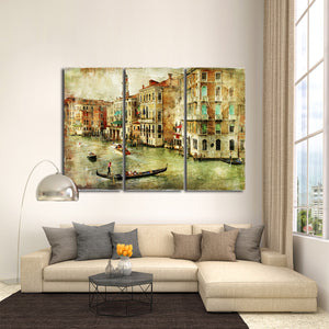 Venice Painting Multi Panel Canvas Wall Art - City