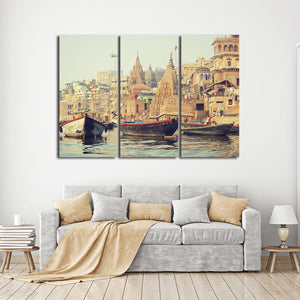 Varanasi Multi Panel Canvas Wall Art - City