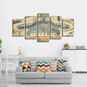 Vatican City Multi Panel Canvas Wall Art - City