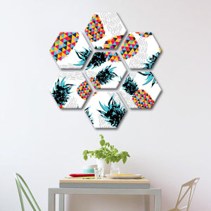Vibrant Pineapples Multi Panel Canvas Wall Art - Pineapple