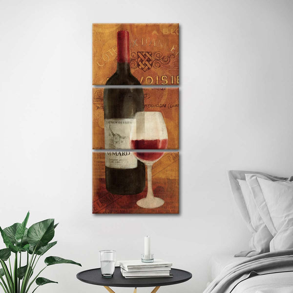 Vin Rouge Panel II Multi Panel Canvas Wall Art