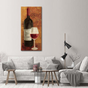 Vin Rouge Panel II Multi Panel Canvas Wall Art - Winery