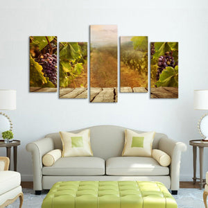 Vineyard Multi Panel Canvas Wall Art - Winery