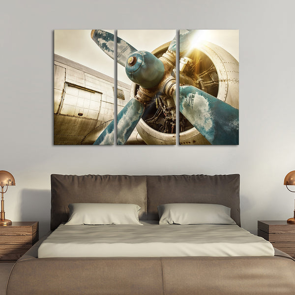 Vintage Airplane Multi Panel Canvas Wall Art Elephantstock