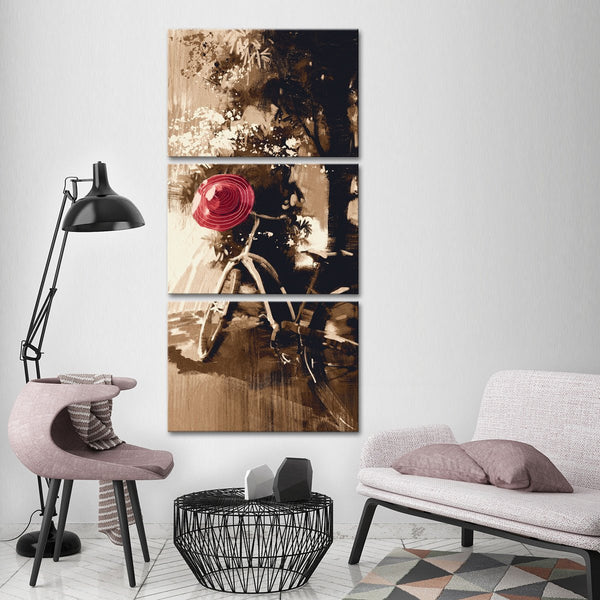 Vintage Bicycle Multi Panel Canvas Wall Art