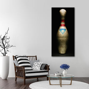 Vintage Bowling Pin Multi Panel Canvas Wall Art - Bowling