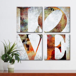 Vintage Love Canvas Wall Art - Inspiration