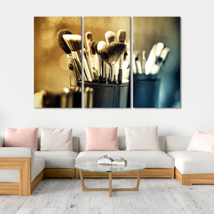 Vintage Makeup Multi Panel Canvas Wall Art - Makeup