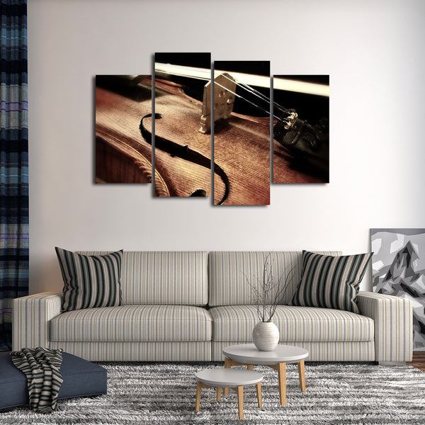 Vintage Violin Multi Panel Canvas Wall Art