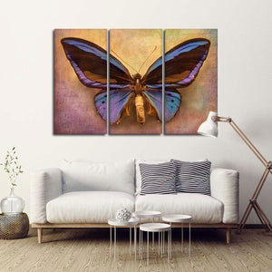 Vintage butterfly Multi Panel Canvas Wall Art - Shabby_chic