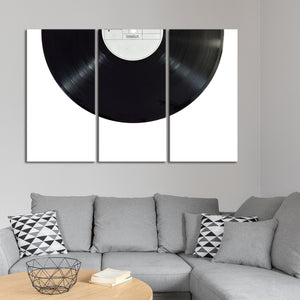 Vinyl Record Multi Panel Canvas Wall Art - Music