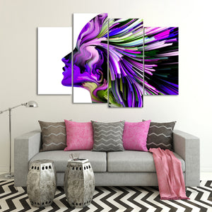 Violet Profile Colors Multi Panel Canvas Wall Art - Color