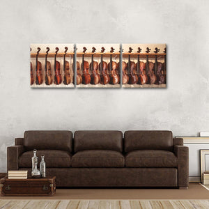 Violin Collection Multi Panel Canvas Wall Art - Music