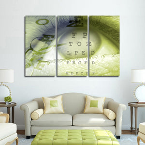 Vision Eye Multi Panel Canvas Wall Art - Optometry