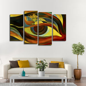 Voice In My Head Multi Panel Canvas Wall Art - Psychology