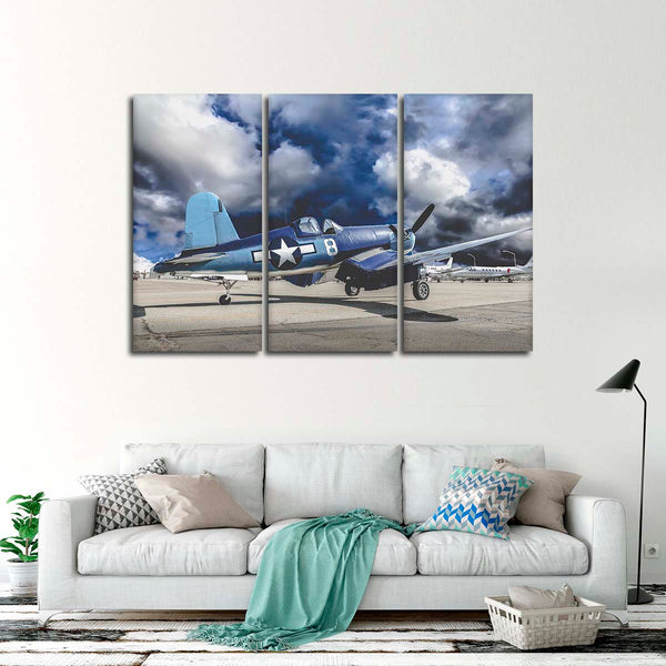 Vought F4U Corsair Multi Panel Canvas Wall Art