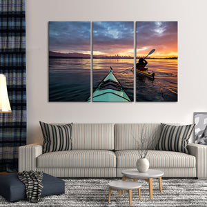 Voyage Multi Panel Canvas Wall Art - Kayak