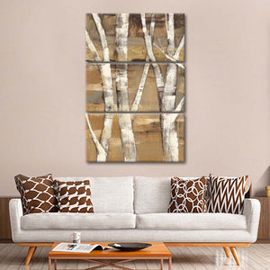 Wandering Through the Birches I Multi Panel Canvas Wall Art - Nature