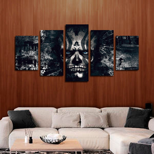 Warrior Within Multi Panel Canvas Wall Art - Skull