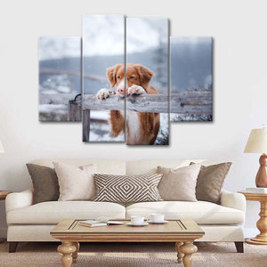 Watchdog Multi Panel Canvas Wall Art - Dog