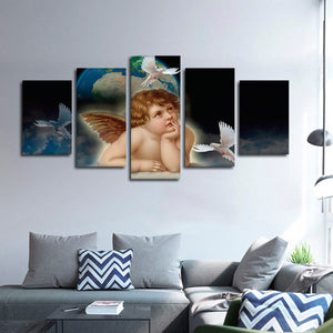Watching Over You Multi Panel Canvas Wall Art - Religion