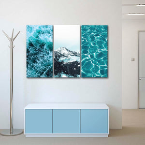 Cool Hues Canvas Set Wall Art - Abstract