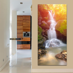 Waterfall Myth Multi Panel Canvas Wall Art - Nature