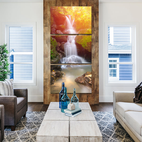 Waterfall Myth Multi Panel Canvas Wall Art