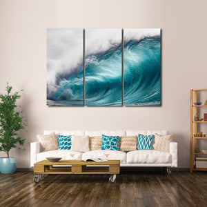 Wave At Waimea Bay Multi Panel Canvas Wall Art - Surfing