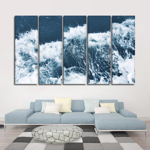 Wave Breaks Multi Panel Canvas Wall Art - Surfing