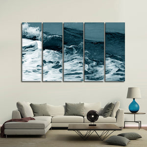 Wave Concept Multi Panel Canvas Wall Art - Surfing
