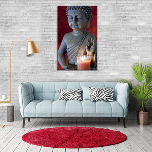 Waves Of Peace Multi Panel Canvas Wall Art - Buddhism