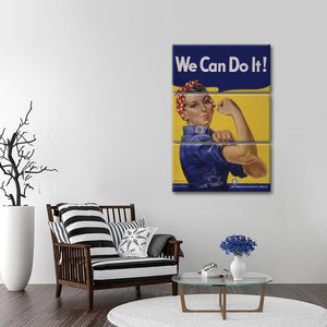 We Can Do It Multi Panel Canvas Wall Art - Inspiration