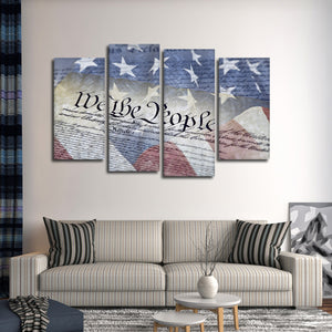 We The People Multi Panel Canvas Wall Art - America
