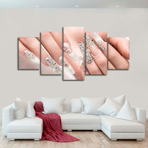 Wedding Manicure Multi Panel Canvas Wall Art - Nails