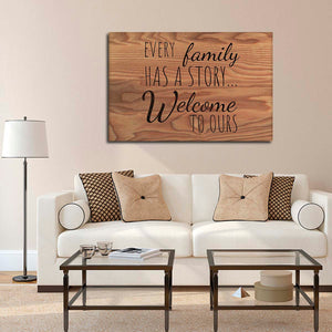 Welcome To Our Story Multi Panel Canvas Wall Art - Inspiration