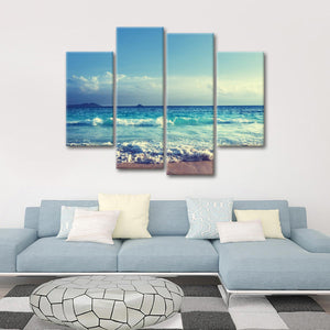 Welcome the Waves Multi Panel Canvas Wall Art - Beach