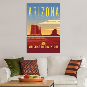 Welcome To Arizona Multi Panel Canvas Wall Art - City